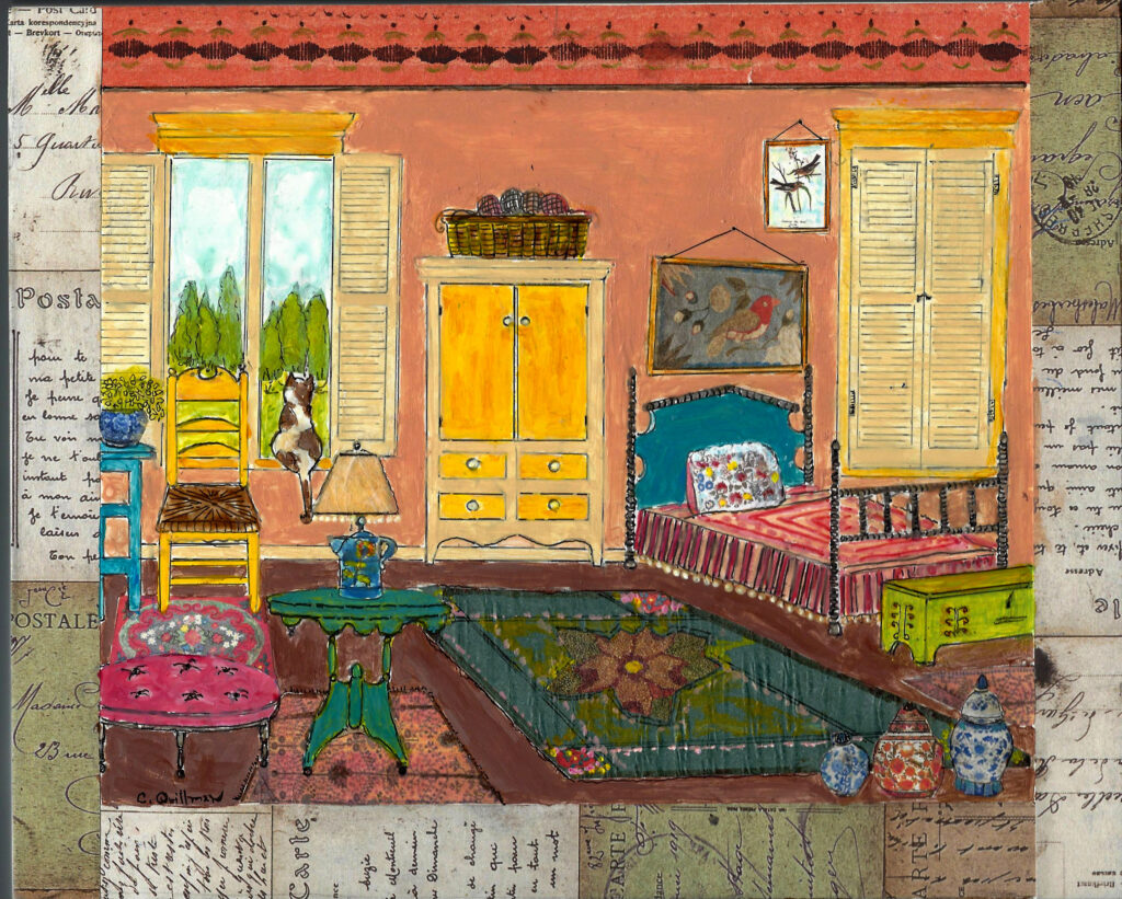 """Folk Bedroom""  8 x 10 print $35"